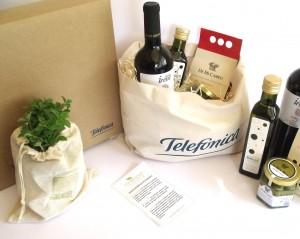 Sets eco gourmet para telefónica de Argentina