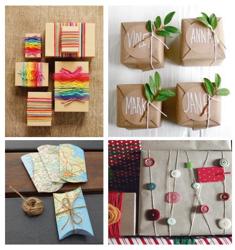 8 ideas simples para envolver regalos reusando materiales.