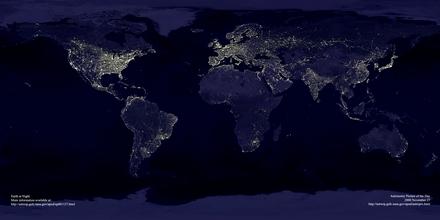 La hora del planeta supervisada desde el espacio