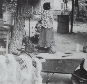 Mujeres wichi - desfibrado del chaguar