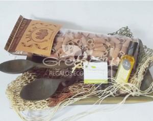 Fuente eco gourmet con artesanias wichi