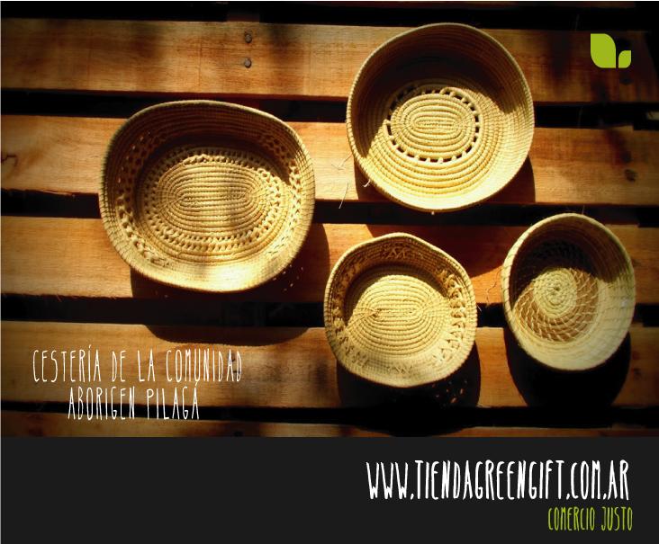 Regalos cestería comercio justo